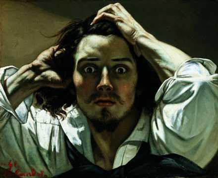 Gustave Courbet The Desperate Man (Self-Portrait) 1845