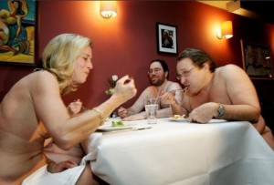 clothing optional dinner