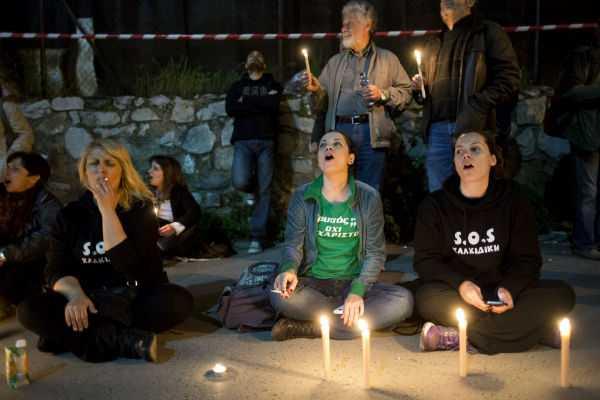 Διαμαρτυρία αλληλεγγύης για τους δύο συλληφθέντες στην Ιερισσό, Θεσσαλονίκη, 13 Απριλίου / fosphotos.com | Kostantinos Tsalakidis