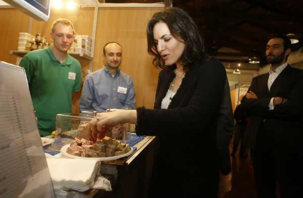 Η Όλγα Κεφαλογιάννη στο φεστιβάλ γευστικού πολιτισμού που πραγματοποιήθηκε στην Τεχνόπολη στο Γκάζι, Αθήνα, 12 Απριλίου / fosphotos.com | Panayiotis Tzamaros