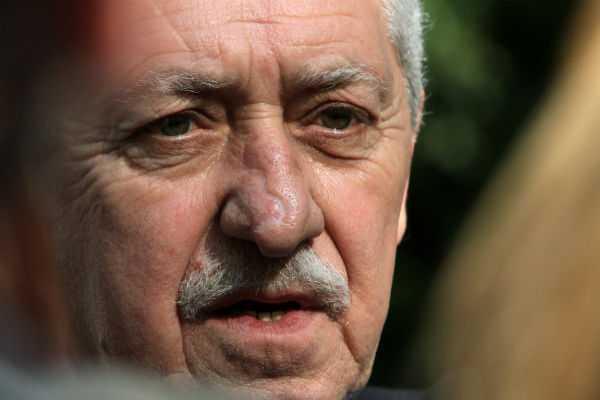 Ο Φώτης Κουβέλης κατά τη συνάντηση των πολιτικών αρχηγών για το θέμα των απολύσεων των δημοσίων υπαλλήλων, Αθήνα, 13 Απριλίου / fosphotos.com | Panayiotis Tzamaros
