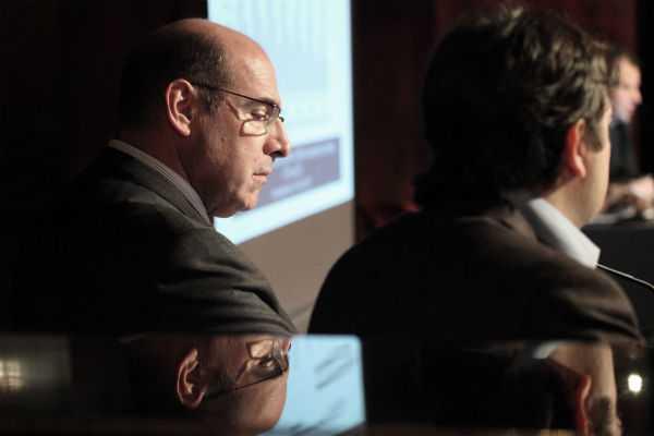 Ο πρόεδρος του ΙΟΒΕ Οδυσσέας Κυριακόπουλος στην εκδήλωση για την ανάπτυξη της ελληνικής οικονομίας, Αθήνα, 08 Απριλίου / fosphotos.com | Menelaos Myrillas
