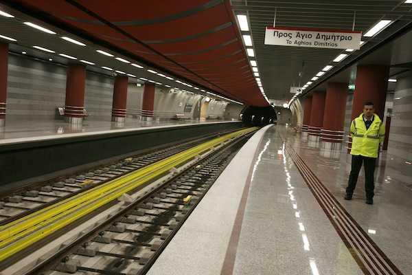 Εγκαίνια νέος  Σταθμός  Μετρό  Περιστέρι  Υπουργός Μεταφορών  Κωστής  Χατζηδάκης