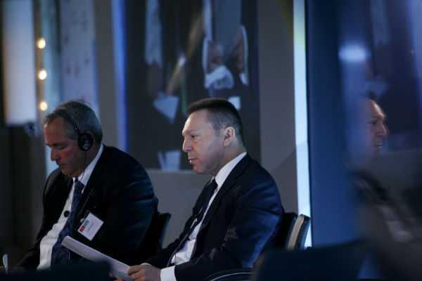 Γ. Στουρνάρας: «Έκλεισε η συμφωνία με την Τρόικα»,από το βήμα του Economist / Αθήνα, Δευτέρα 15 Απριλίου / fosphotos.com | Alexandros Katsis