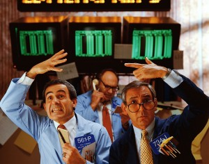 Stock Traders Trading Stocks and Securities