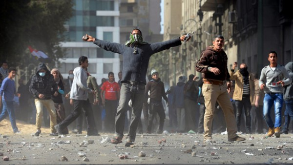 Egyptian protestor