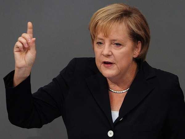 German Parliament - Chancellor Angela Merkel