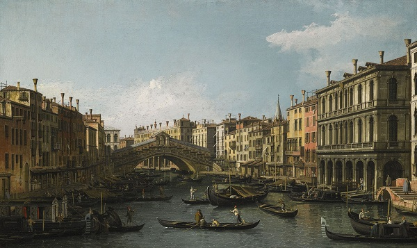 Canaletto - View of the Grand Canal & Rialto Bridge (1)