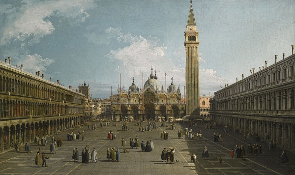 Canaletto - View of the Piazza San Marco (2)