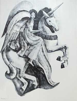 άγγελος  μονόκερος 170X130 λαδομπο γιά σε καμβά