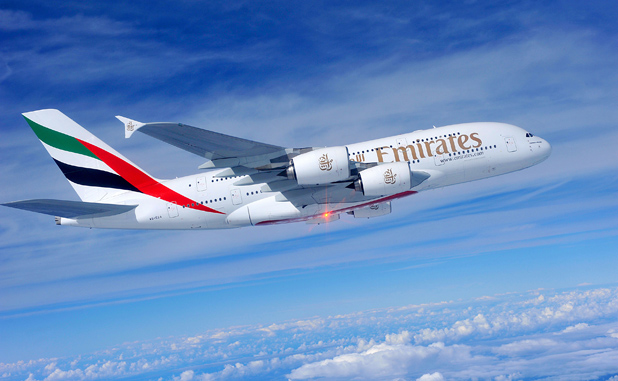 Emirates A380 In Flight