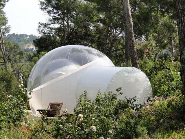 Attrap reves bubble hotel the paper for Hotel de reve france