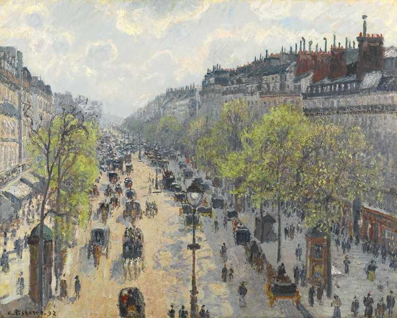 Το έργο του Pissaro που τρέλανε το ταμπλό της τέχνης και έφτασε τα 20 εκατ. λίρες!  «Le Boulevard Monmartre / Matinee de printemps», λάδι σε καμβά (διαστάσεις 65x81 εκ.)