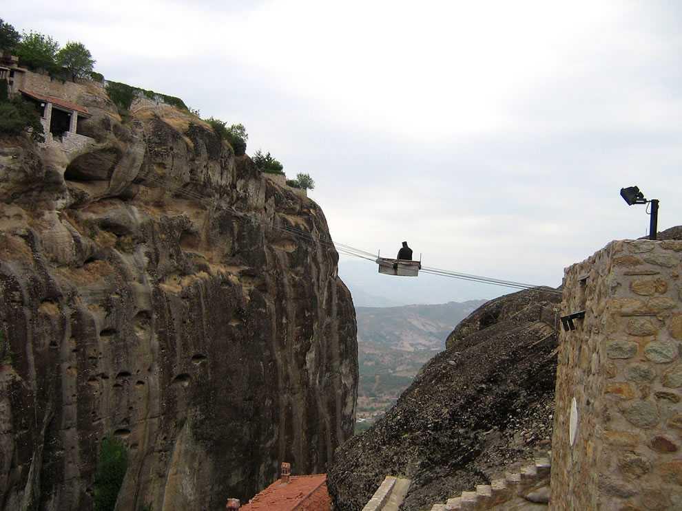 modernday-monks-mode-of-transport-in-Meteora