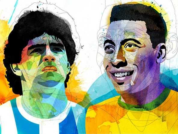 Maradona-versus-pele