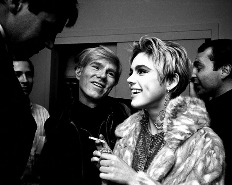 Andy Warhol Looks Adoringly at Edie Sedgwick