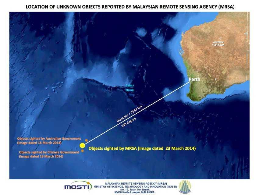 Malaysia/ Flug MH370/ Satellitenbild