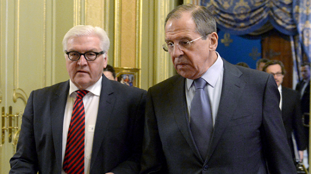 Russian foreign minister meets with German counterpart