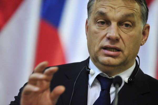 Hungarian Prime Minister Viktor Orban gi