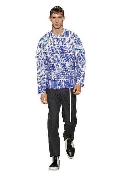-SWEATSHIRT High Waves neoprene sweatshirt and poplin pants by Kenzo from spring 2014;openingceremony.us