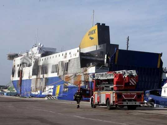 Norman Atlantic in Brindisi's Port