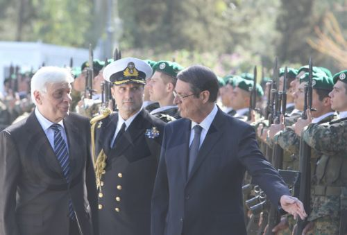 Greek President Prokopis Pavlopoulos official visit to Cyprus