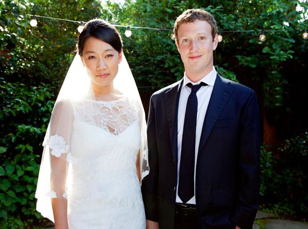 """19 May 2012 - Los Angeles - USA  Mark Zuckerberg has married his girlfriend - and posted pictures on his own Facebook page! The Facebook creator tied the knot with Priscilla Chan on Saturday May 19, 2012. He then posted a photo showing the happy couple together with Priscilla in a white wedding dress and himself in a suit and tie in what appears to be a garden. There were no other details posted of where the wedding took place or who else attended. And the heading on the Facebook page simply read: """"Married Priscilla Chan."""" The wedding comes just 48 hours after Facebook was traded as a public company, reportedly making Zuckerberg the single richest person in the world with an esitmated $19.5 billion.  XPOSURE PHOTOS DOES NOT CLAIM ANY COPYRIGHT OR LICENSE IN THE ATTACHED MATERIAL. ANY DOWNLOADING FEES CHARGED BY XPOSURE ARE FOR XPOSURE'S SERVICES ONLY, AND DO NOT, NOR ARE THEY INTENDED TO, CONVEY TO THE USER ANY COPYRIGHT OR LICENSE IN THE MATERIAL. BY PUBLISHING THIS MATERIAL , THE USER EXPRESSLY AGREES TO INDEMNIFY AND TO HOLD XPOSURE HARMLESS FROM ANY CLAIMS, DEMANDS, OR CAUSES OF ACTION ARISING OUT OF OR CONNECTED IN ANY WAY WITH USER'S PUBLICATION OF THE MATERIAL.   BYLINE MUST READ : Facebook/XPOSUREPHOTOS.COM  *GERMAN CLIENTS, PLEASE CALL TO AGREE FEE PRIOR TO PUBLICATION* PLEASE CREDIT AS PER BYLINE *UK CLIENTS MUST CALL PRIOR TO TV OR ONLINE USAGE PLEASE TELEPHONE 020 7377 2770"""
