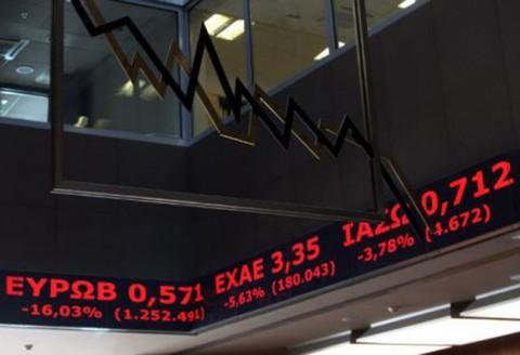 Πάνω από 6% η πτώση στο Χρηματιστήριο Αθηνών