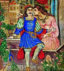 """Ο πίνακας του λαϊκού ζωγράφου Θεόφιλου με τίτλο """"Ο Ερωτόκριτος"""""""
