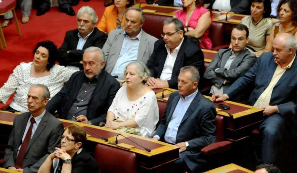 Οι βουλευτές του ΚΚΕ αποχώρησαν από τη συζήτηση και την ψηφοφορία ...